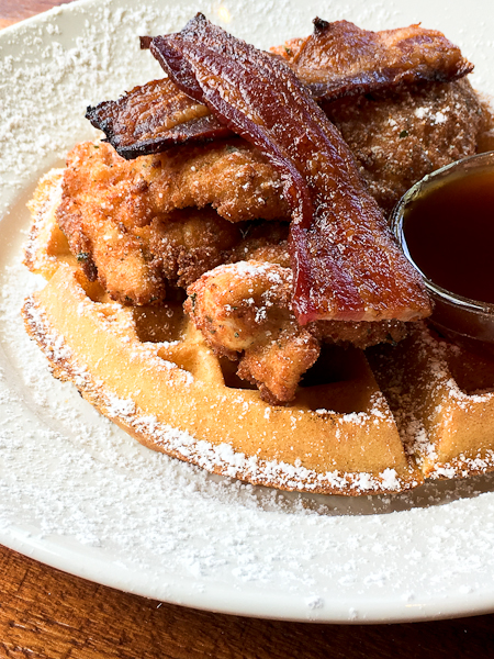 Chicken & Waffles - Del Frisco's Weekend Brunch | ShesCookin.com
