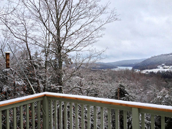 Winter on the lake - Eureka Springs, Arkansas | ShesCookin.com