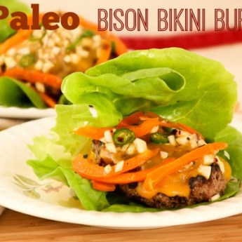 Paleo Bikini Burger with Spiced Sweet Pepper Slaw for #BurgerMonth