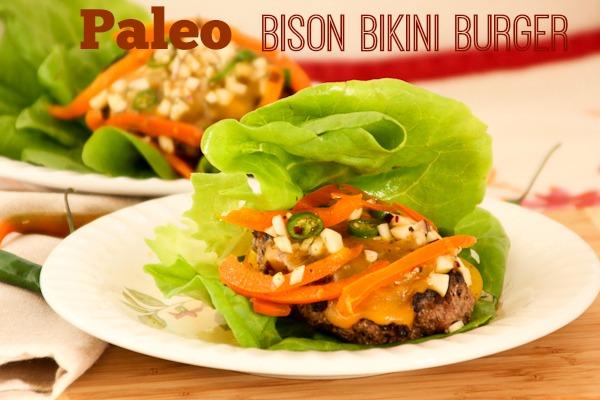 Paleo Bison Bikini Burger ShesCookin.com