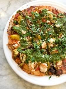 Seasonal Pizza - Cafe Gratitude, Newport Beach | ShesCookin.com-