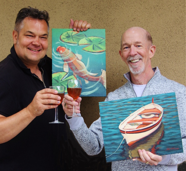 Wine & Painting Workshop - Festival of Arts | ShesCookin.com