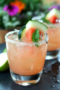 Firecracker cocktail - cucumber vodka, lime and watermelon