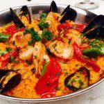 Paella - Spanish Night at Bistango   ShesCookin.com