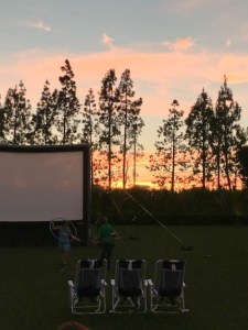 Hotel Irvine Backyard Movie Nights | ShesCookin.com