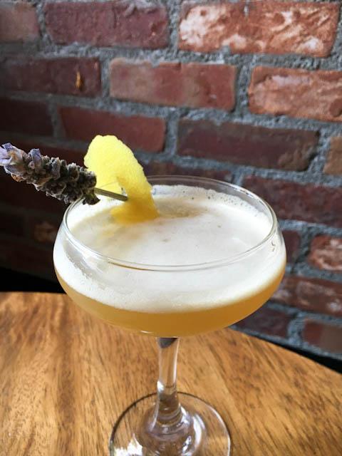Lavender Silver Sour cocktail - Macallans Public House | ShesCookin.com