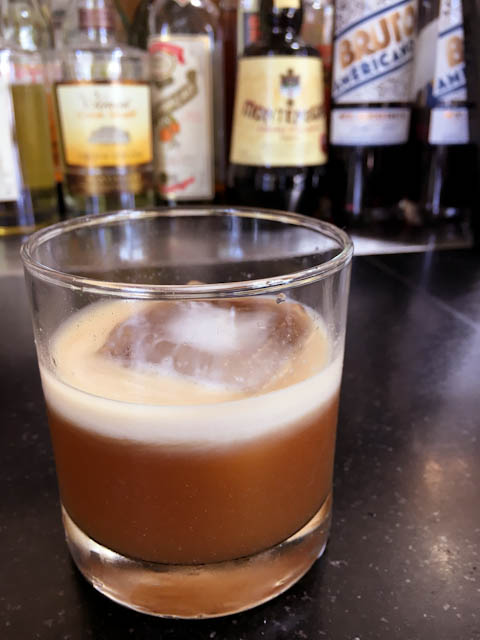 El Duderino - a complex White Russian with housemade corn syrup and chocolate liqueur | ShesCookin.com