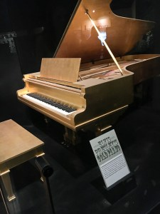 Elvis Presley's gold plated piano - Country Music Hall of Fame, Nashville | ShesCookin.com