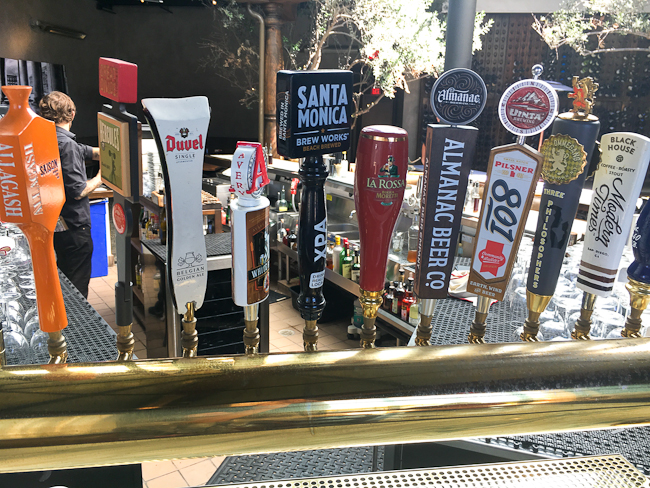 Beers on tap, Settebello Pizzeria | ShesCookin.com