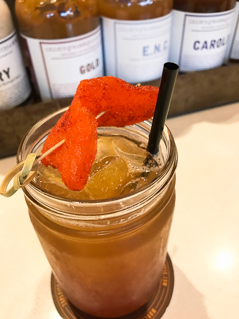ÓRALE, HOMES Mezcal, Sweet Tea, Sugar, Lemon, Haberno, Chili Mango