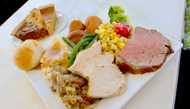 Thanksgiving, Back Bay Bistro buffet