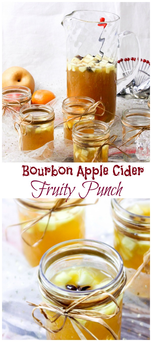 Bourbon Apple Cider Fruit Punch