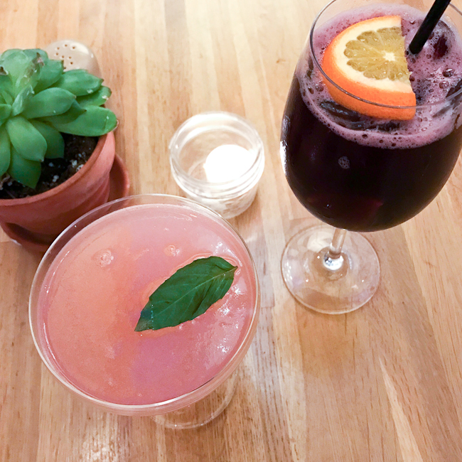 Thai Grapefruit Martini and Farmers Market Sangria