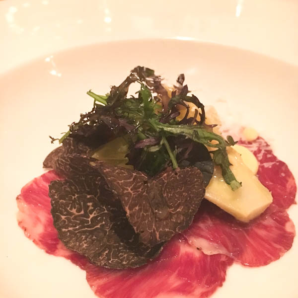 Iberico Ham Carpaccio with Truffles, Balboa Bay Resort