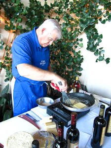 Taste of Greece, making saganaki