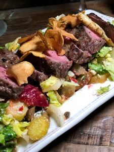 Grilled Steak Salad, Farmhouse at Rogers Gardens| ShesCookin.com