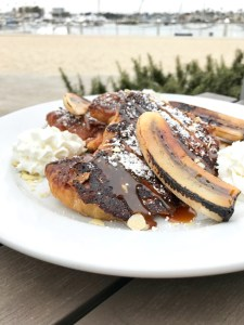Croissant French Toast with Salted Caramel and Bananas | ShesCookin.com