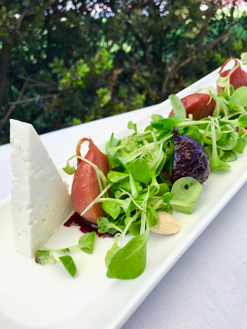 Beet Salad with Feta, Spaghettini Seal Beach | ShesCookin.com