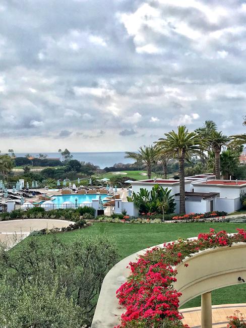 Ocean view at Monarch Beach Resort, Dana Point, CA