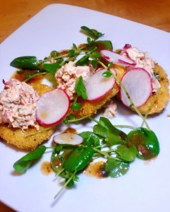 Fried Green Tomato and Lobster Salad, Memphis Cafe, Costa Mesa