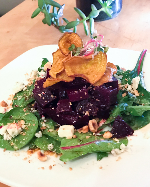 Roasted beet salad with feta, Memphis Cafe, Costa Mesa
