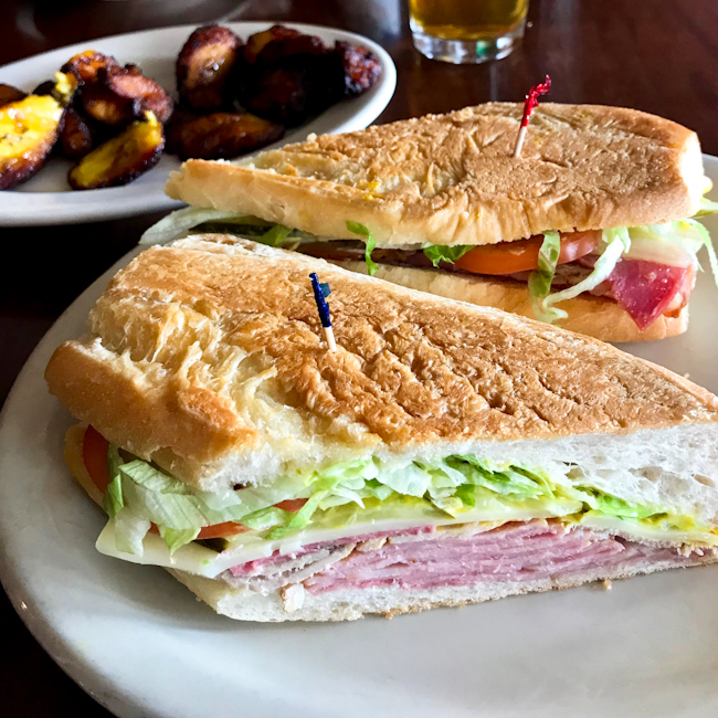 Cubano sandwich at Carmine's, Ybor City, Tampa, Florida