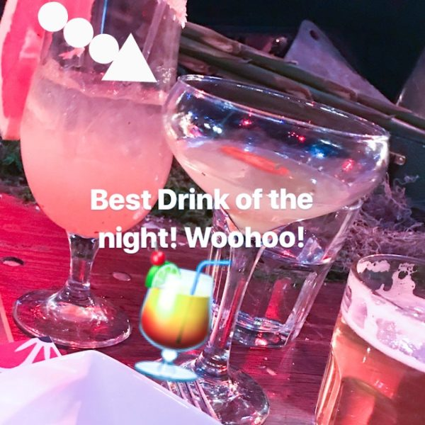 Trejos Tacos winning cocktail at Dux in Tux 2018