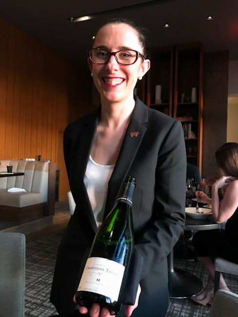 Sommelier Michelle Morin at Bourbon Steak restaurant, Orange County, California