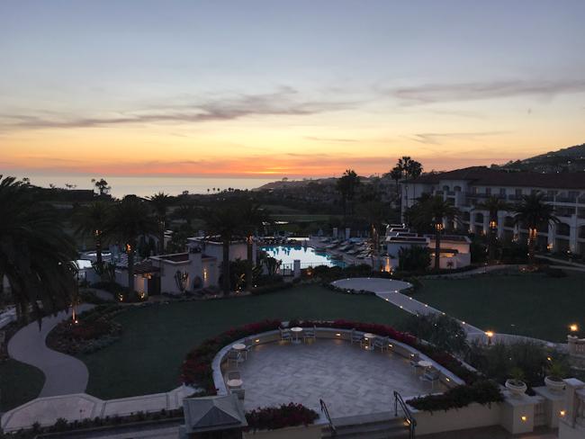 sunset at Monarch Beach Resort, Dana Point, California