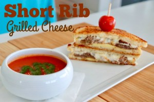 Short Rib Grilled Cheese with Tomato Soup