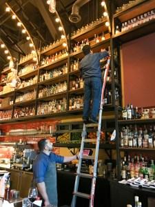 Bar area of Vaca restaurant, Costa Mesa