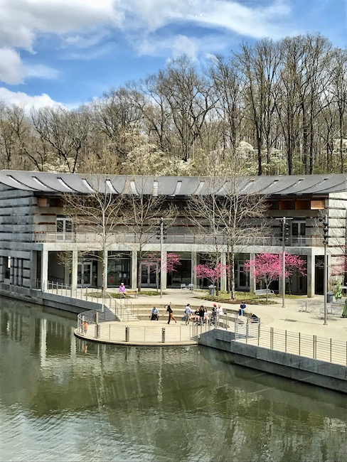 Scenic Ozarks setting of Crystal Bridges Museum of Modern Art