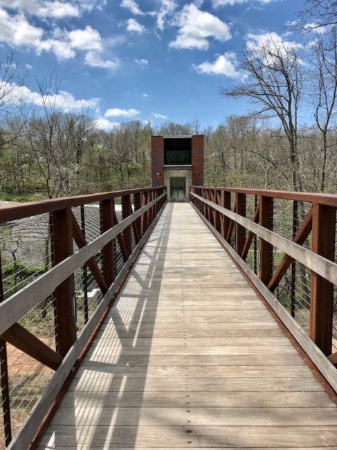 Bridge to North Forest Trail, Crystal Bridges Museum of Modern Art