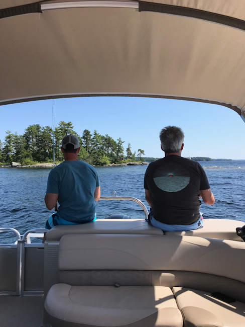 Fishing on Sebago Lake at Migis Lodge
