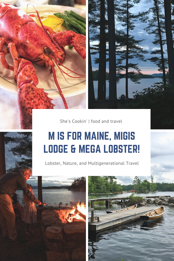 What is Maine famous for? Lobster! At Migis Lodge you can have your lobster along with rest, relaxation and outdoor fun surrounded by nature on Lake Sebago. #Maine #lobster #multigenerational #travel