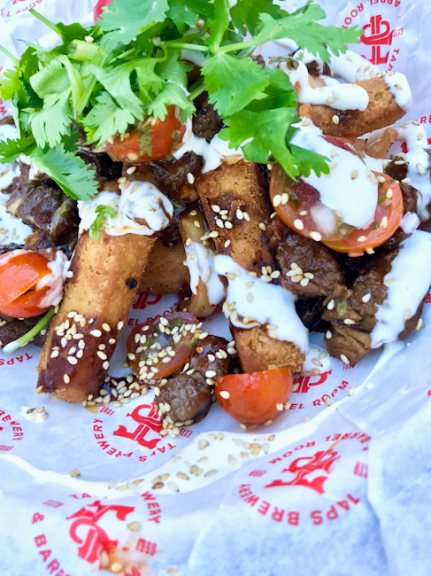 Bulgogi beef masa fries at TAPS Brewery and Barrel Room