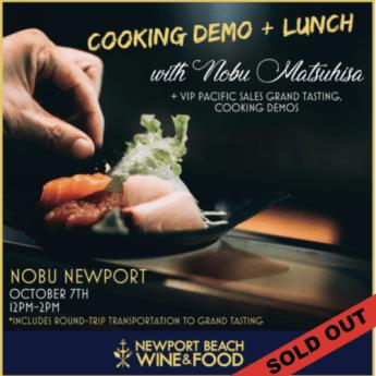 Nobu Matsuhisa, Newport Beach Wine & Food