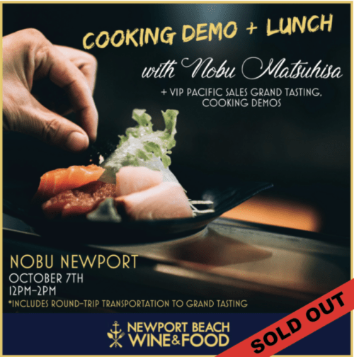 Nobu Matsuhisa, Newport Beach Wine & Food