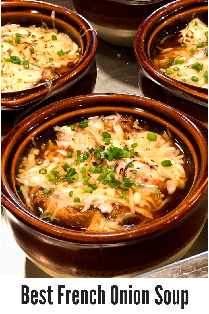 Tips and techniques for making the Best French Onion Soup ever, from Cook Academy at The Essex, Vermont\'s Culinary Resort & Spa. #soup #FrenchOnionSoup #cookingtips