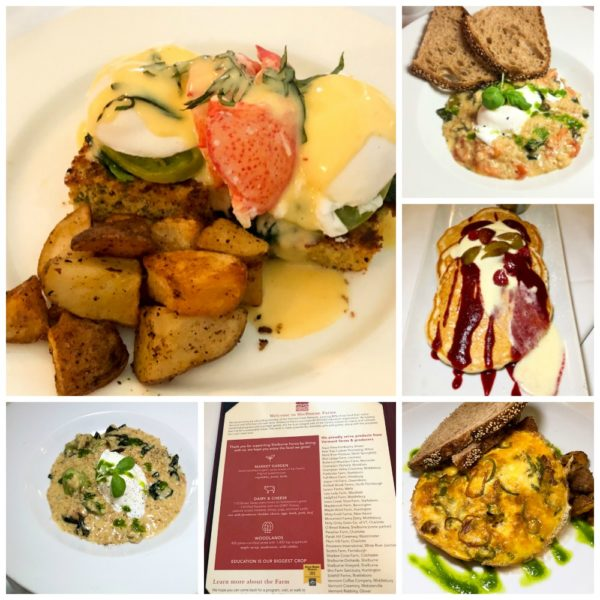 Selection of breakfast dishes at Shelburne Farms in Vermont