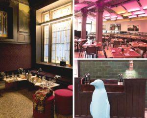 The Savoy bar and restaurant interior, 21c Museum Hotel Kansas City