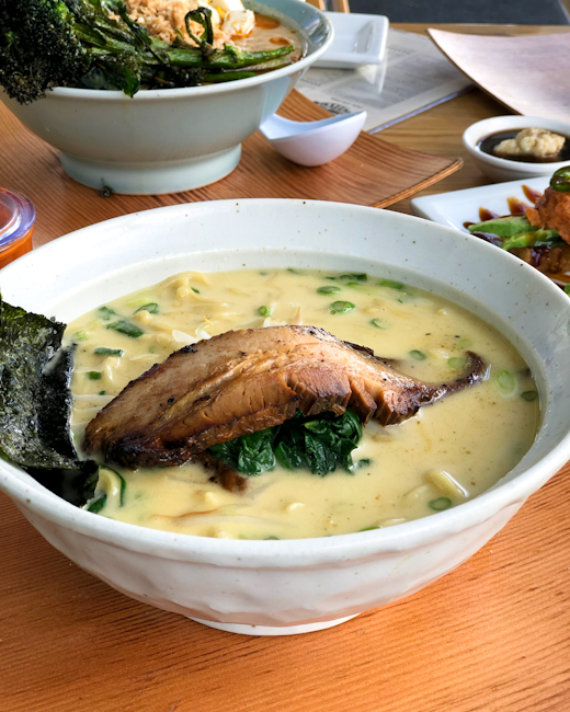 Bowl of Tonkotsu ramen at HiroNiro in Irvine, California
