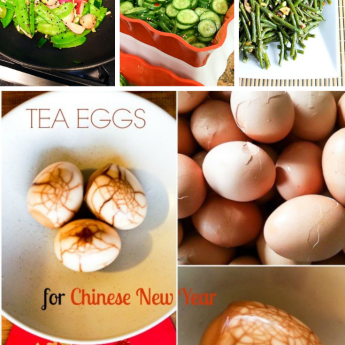 Chinese New Year foods Pinterest graphic