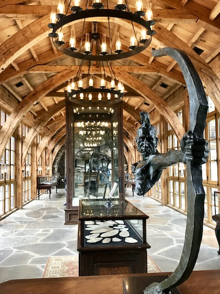 Native American artifacts and artwork at Dogwood Canyon Nature Center