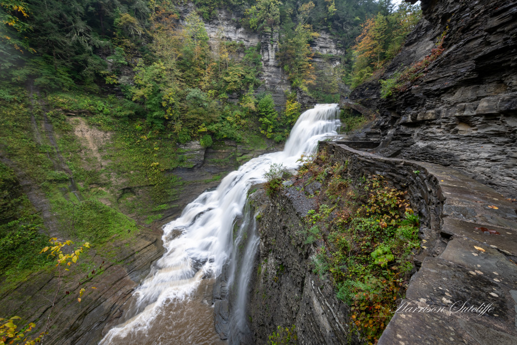 waterfalls in the finger lakes region, Lucifer Falls