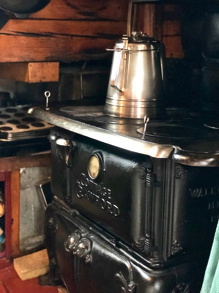 Maine food tour, the wood-burning stove