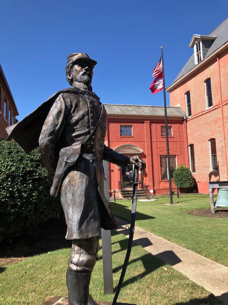Statue of Civil War Confederate General Cleburne in Helena, Arkansas
