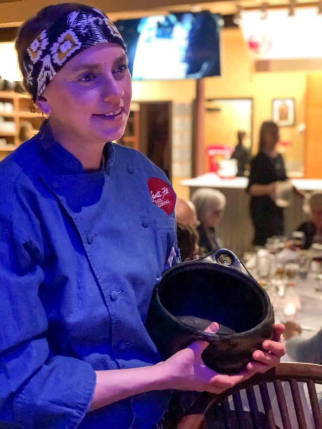 Chef Jen Doughty with Changa cookware