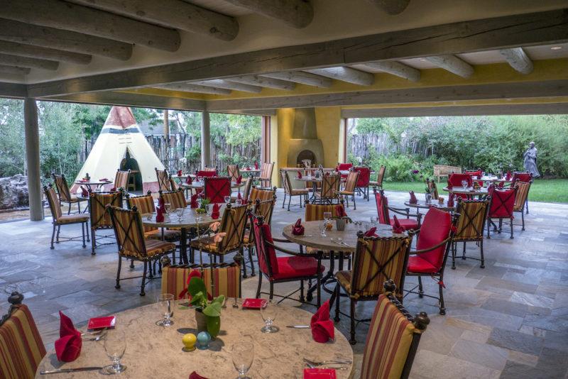 Amaya restaurant patio, Hotel Santa Fe