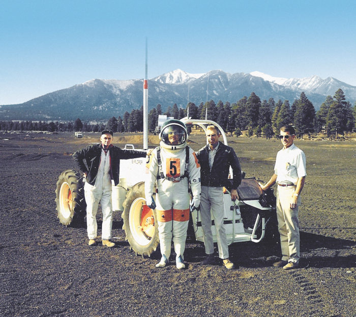 lunar rover vehicle simulator Explorer with the U.S. Geological Survey team